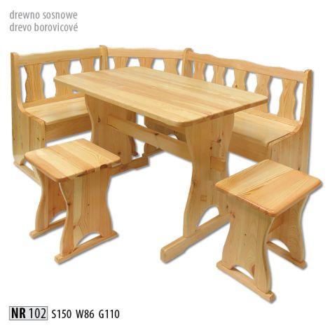 Étkező sarok pad szék sámli hokedli